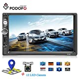 Podofo Autoradio mit Bluetooth, 2 DIN, 17,8 cm (7 Zoll) LCD-Touchscreen, MP3/USB/SD, AM/FM, Multimedia-Player, unterstützt Rückfahrkamera