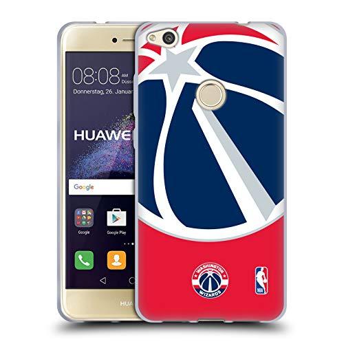 Head Case Designs Oficial NBA Oversized Icon Washington Wizards Carcasa de Gel de Silicona Compatible con Huawei P8 Lite (2017)