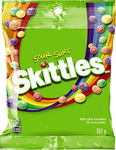 Skittles Bite Size Candy, Sours, 5.7 Ounce Bag