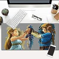 拡張Zeldaゲーミングマウスパッドノンスリップラバーベースマウスマット高プロフェッショナル品質家庭用27.5X11.8インチに最適