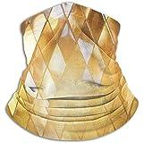 Archiba Polaina de Calentador de Cuello de Vidrio de Mosaico Dorado Brillante, Cubierta de Cubierta Facial de esquí Polar Polar
