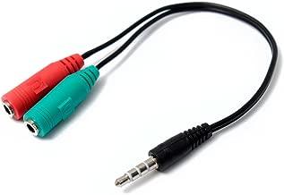 Adaptador Audio Microfono+Auricular MiniJack 3.5