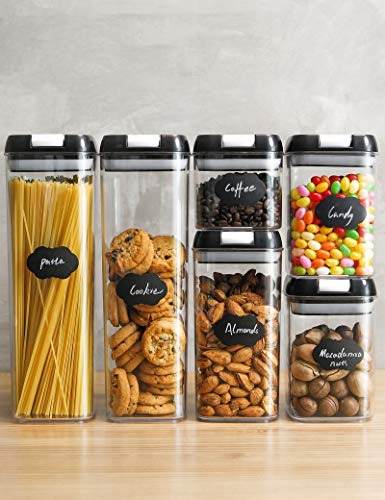 Food Storage Containers Set Airtight Pantry Organization and Storage Kitchen Canisters with Lids LeakProof Pantry Storage Containers with FoodGrade Material amp Stackable Design6 pcs