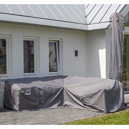 Madison Gartenmöbel Abdeckung Schutzhülle Abdeckplane Abdeckhaube Schutzplane Garten Lounge 235x235x70 cm L-Form Grau Wasserdicht Atmungsaktiv