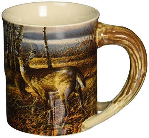 Wild Wings Sculpted Mugs - The Birch Line Antler Handle 16oz.