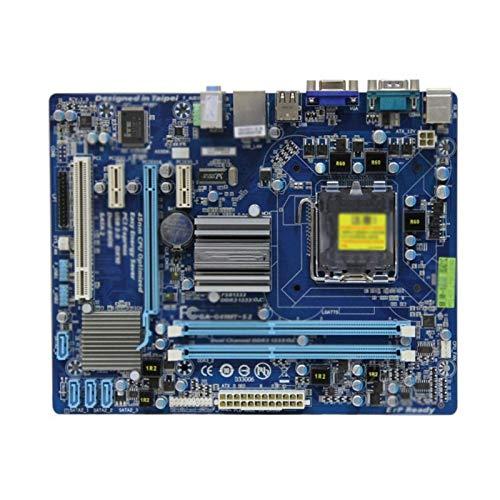 SXHHH Tarjeta Madre Procesadores De Computadora Placa Base Fit For Gigabyte GA-G41MT-S2 LGA 775 DDR3...