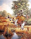 Puzzle de 1000 piezas de rompecabezas de madera Accesorios para puzzles Rompecabezas rompecabezas de madera rompecabezas para adultos niños pato volador arte juegos casuales juguetes para padres e h
