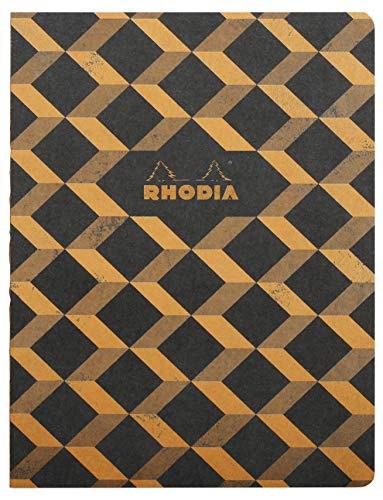 Rhodia Heritage Raw Binding Notebook, 190x250mm, Square ruling - Black Escher