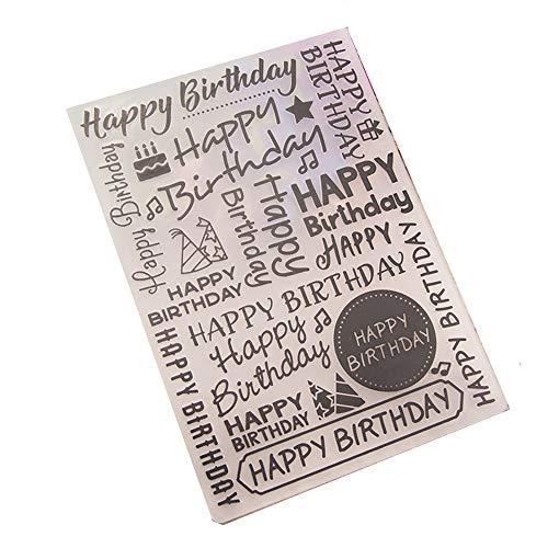 Gelukkig Verjaardag Plastic Embossing Mappen voor DIY Card Maken Decoratie Stencil Scrapbooking Gereedschap