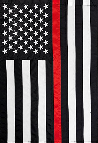 Briarwood Lane Thin Red Line Garden Applique & Embroidered Flag 12.5' x 18'