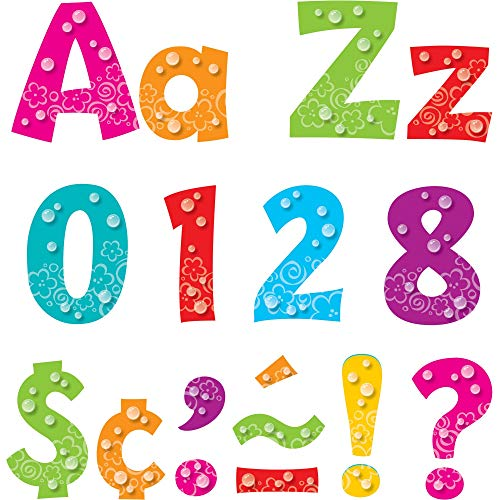 """Bubbles 4"""" Playful Font Uppercase/Lowercase Punch-Out Ready Letters by TREND enterprises, Inc.; 216 ct."""