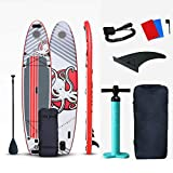 MOORRLII Inflatable Stand Up Paddle Board,3658115 cm,Double-Layer Racing SUP Board Beginner's Surfboard with Adjustable Paddle/Fin/Pump/Leash/Backpack/Repair Kit
