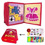 Libros Blandos para Bebé, Libro De Bebé Ultra Suave Libro De Tela De Tacto Y Tacto Libro De No Tejido Manual 3D Para Bebés Y Niños Pequeños, Aprender A Libro Sensorial Identificar Habilidades