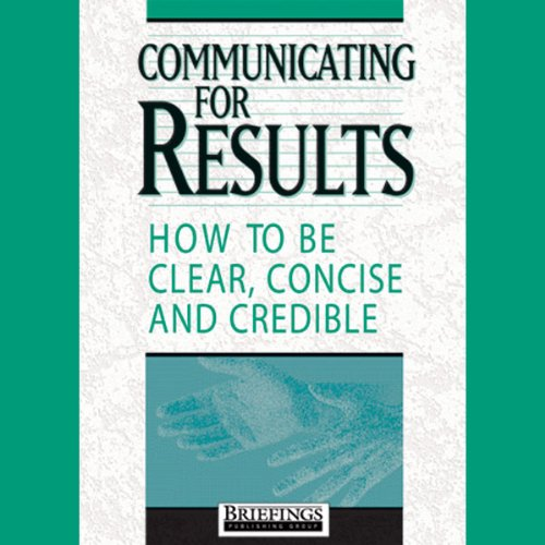 Communicating for Results audiobook cover art