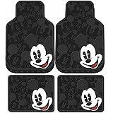 U.A.A. INC. 4pcs Mickey Mouse Expressions Front Rear Rubber Floor Mats Set