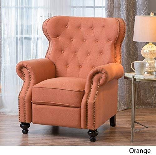 Best Christopher Knight Home Walder Tufted Fabric Recliner, Orange
