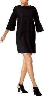 Eileen Fisher Womens Wool Bateau Neck Sweaterdress