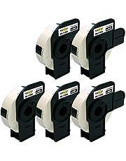 Yellow Yeti 5 Rollos DK-11204 17 x 54mm Etiquetas compatibles para Brother P-Touch QL-500 QL-570 QL-700 QL-710W QL-720NW QL-800 QL-810W QL-820NWB QL-1050 QL-1100 QL-1110NWB | 400 Etiquetas/Rollo