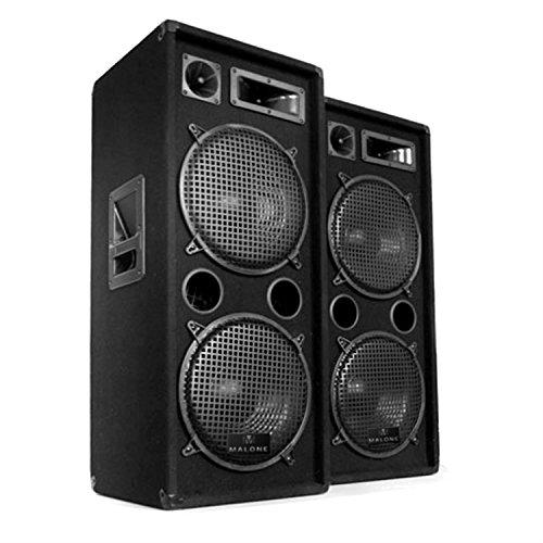 """Electronic-Star DJ-20.1 Completo Set para Eventos DJ - 2 Altavoces PA de 3 vías (12"""") , Potencia RMS 500W , Amplificador 2 x 350W , Mesa de Mezclas , 2 micrófonos , Puerto USB , Lector SD , Radio FM"""