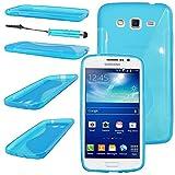 ebestStar - Funda Compatible con Samsung Grand 2 Galaxy G7105 G7102 G7100 Carcasa Gel Silicona Gel TPU Motivo S-línea, S-Line Case Cover + Mini Lápiz, Azul [Aparato: 146.8 x 75.3 x 8.9mm, 5.25'']