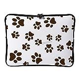 DKISEE - Funda para portátil de 12 pulgadas con cremallera de dos vías, diseño de gato o perro, compatible con MacBook Air/MacBook Pro SDS155