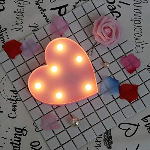Inglés letra luz LED noche luz Tanabata Festival regalo ceremonia de boda lámpara de pared símbolo de estilo romántico lámpara de modelado, rosa pequeño amor, 0.5