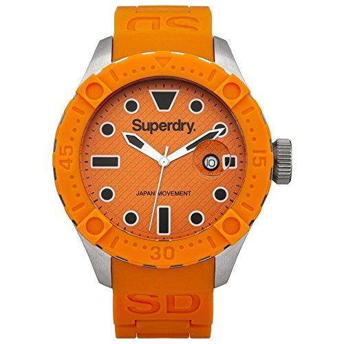 Superdry SYG140O DEEP SEA Scuba Uhr Herrenuhr Kautschuk Edelstahl 100m Analog Datum orange