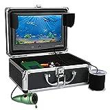 Fish Finders Portable, 6 PCS Infrared LED Lamps Caméra vidéo sous-Marine + Moniteur Couleur 9 Pouces pour la pêche sur Glace en Kayak de mer, avec câble,30M