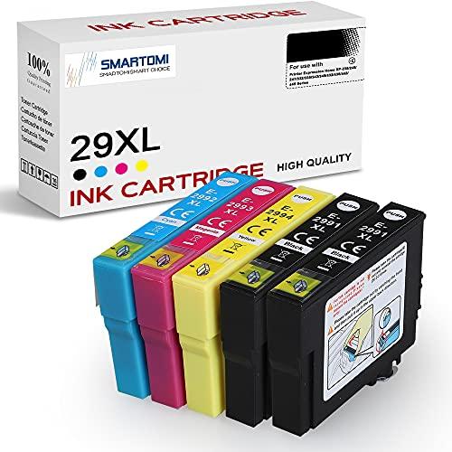 SMARTOMI 29XL Cartuchos de Tinta Compatible para Epson 29XL 5 Multipack Compatible con Epson Expression Home XP-235 XP-245 XP-247 XP-255 XP-345 XP-332 XP-342 XP-352 XP-432 XP-442 XP-445 XP-452 Series