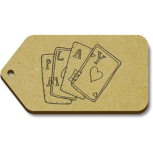 Azeeda 10 x 'Kartenspielen' 66mm x 34mm Hölzerne Tags (TG00006647)
