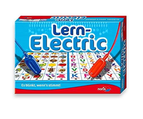 Noris 606013711 Lern Electric Der Lernspiel-Klassiker was passt zusammen, Es blinkt, wenn\'s stimmt, ab 6 Jahren