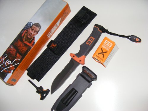 GERBER Bear Grylls Ultimate Fixed Blade - Black/Orange, one Size