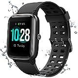 Muzili Smart Watch IP68 Waterproof Fitness Tracker for Swimming 1.3'' Large Color Full