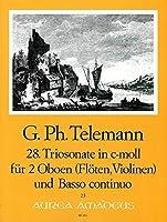 TELEMANN - Trio Sonata en Do menor (TWV:42/c 4) para 2 Oboes (2 Flautas) (2 Violines) y BC(Pauler/Hess