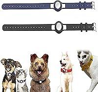 2 個 シリコン保護ケース Airtagに適用 ペット犬猫の首輪ストラップ、ケースウェアラブル紛失防止ロケーター、ペットループホルダー、Airtag に適用、GPS ファインダー犬猫首輪ループ (D)