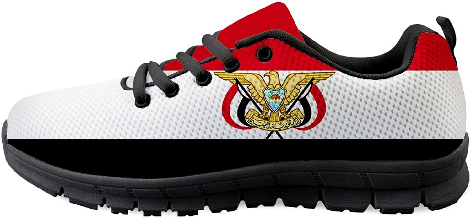 Owaheson Lace-up Sneaker Training shoes Mens Womens Yemen Flag National Emblem