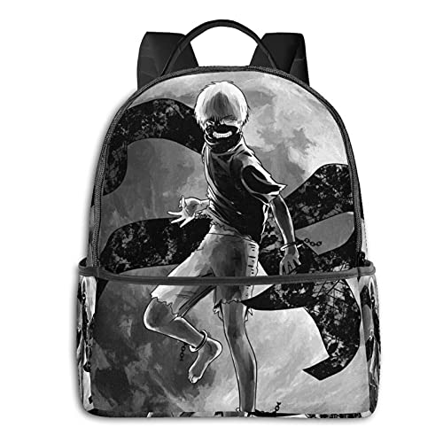 Tokyo Ghoul Backpack Smooth Zipper Travel Bag Leisure Laptop Student University School School Cycling Leisure Camping Outdoor