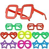 Hifot 8 Piezas Gafas de Novedad Anteojos, Bolsas de Fiesta Infantiles para niños, Marcos de Gafas Suministros fotográficos para la Fiesta