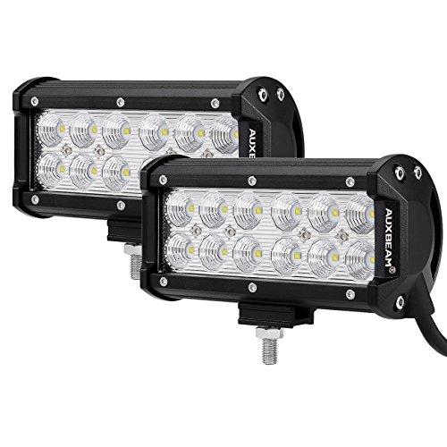 Auxbeam LED Light Bar 7Inch 36W Flood Led Off Road Lights Driving Lights LED Work Lights Waterproof for Jeep Off-Road SUV Truck Car ATVs Boats (2 PCS)
