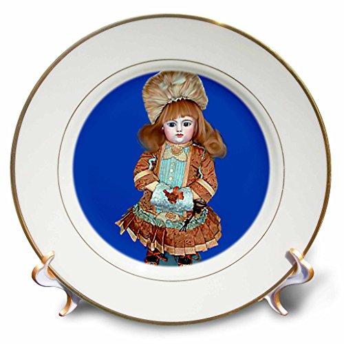 3dRose Bru Antique Puppe – Porzellanteller, 20,3 cm (cp_750_1), 20,3 cm, weiß