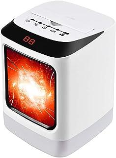 WSYK Calentador Cerámico 800W / 1000W, Calefactor eléctrico con Control Remoto, Función de luz Nocturna, Función de Temporización, Protección contra Inclinación y Sobrecalentamiento,110V