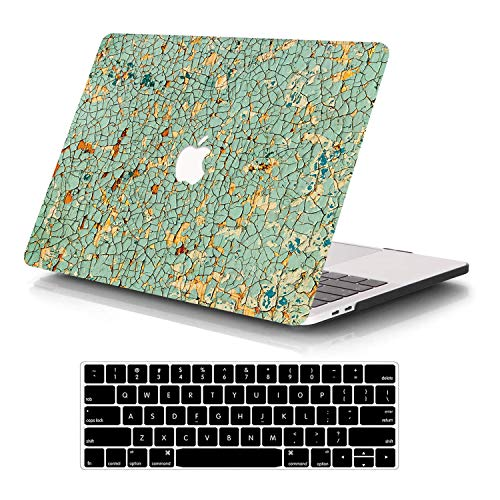 SAYA MacBook Air 13 Inch Case A1466 A1369, Rubberized Plastic Hard Shell Case with Keyboard Cover for Apple MacBook Air 13 Old Version 2017 2016 2015 2014 2013 2012 2011 2010(Debris)