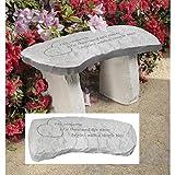 Design Toscano A Single Kiss Cast Stone Memorial Garden Bench