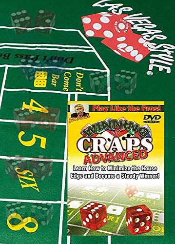 Cyber-Deals Play Like A Pro Craps Pack - Includes Table Layout, Authentic Nevada Casino Table-Played Dice, Advanced Instructional Tutorial DVD