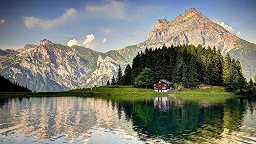 Puzzels 1000 stukjes voor volwassenen Alpen Lake Woodens Speelgoedspel Ontdek creativiteit en het oplossen van puzzels