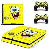 TSWEET Bob Esponja Ps4 Pegatina de Piel para Consola Playstation...