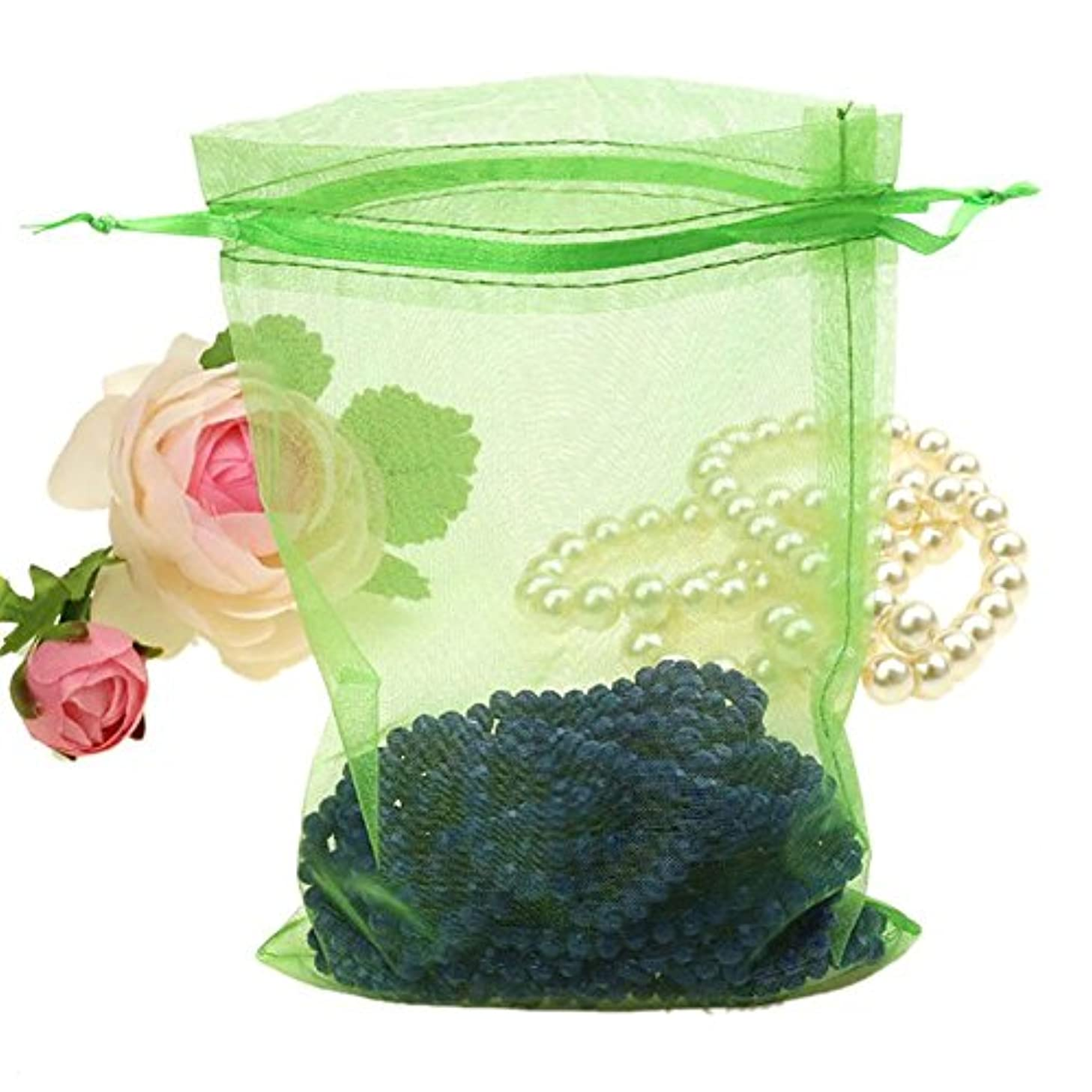 Organza Bags 100pcs 4 x 6 Inch Gift Bags Organza Drawstring Pouch Jewelry Party Wedding Favor Party Festival Gift Bags Candy Bags (Green)