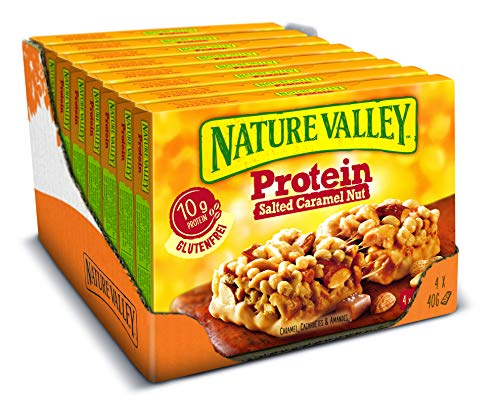 Nature Valley Protein Salted Caramel Nut, 8er Pack (8 x 160 g Multipack mit je 4 Proteinriegeln)