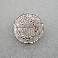 絶妙なコインアンティーク工芸品アメリカ18805真鍮銀メッキシルバーダラーシルバーラウンド外国貿易コレクション