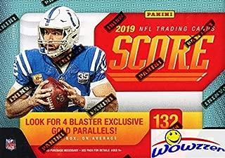 2019 Score NFL Football EXCLUSIVE Factory Sealed Blaster Box with 132 Cards & MEMORABILIA Card! Look for Rookies & Autos of Kyler Murray, Daniel Jones, Dwayne Hoskins, Drew Lock & Many More! WOWZZER!